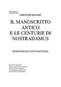 Copertina Il manoscritto antico e le centurie di Nostradamus