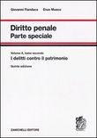Copertina Diritto penale parte speciale – vol. 2 tomo 1