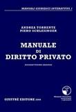 Copertina Manuale di diritto privato