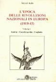 Copertina L'epoca delle rivoluzioni nazionali in Europa (1919-1945)