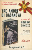 Copertina dell'audiolibro Tre amori di Casanova di COMISSO, Giovanni (a cura di)