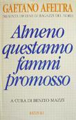 Copertina dell'audiolibro Almeno questanno fammi promosso di AFELTRA, Gaetano