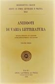 Copertina dell'audiolibro Aneddoti di varia letteratura vol. 1 di CROCE, Benedetto