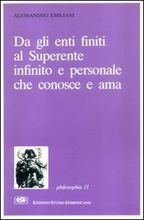Copertina dell'audiolibro Da gli enti finiti al Superente infinito e personale di EMILIANI, Alessandro