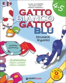 Copertina dell'audiolibro Gatto bianco gatto blu 4/5 strumenti linguistici di VALDISERRA, L.  - LOIERO, S. - VASAPOLLI, F.