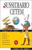 Copertina dell'audiolibro Il sussidiario Cetem 4 – Storia, geografia