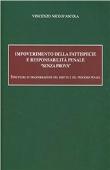 """Copertina dell'audiolibro Impoverimento della fattispecie e responsabilità penale """"senza prova"""" di D'ASCOLA, Vincenzo Nico"""