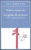 Copertina dell'audiolibro La gioia di scrivere di SZYMBORSKA, Wislawa