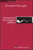 Copertina dell'audiolibro Lineamenti di economia politica di RONCAGLIA, Alessandro