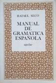 Copertina dell'audiolibro Manual de gramatica espanola di SECO, Rafael