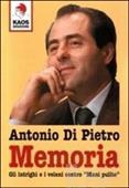 """Copertina dell'audiolibro Memoria – Gli intrighi   e i veleni contro """"Mani pulite"""""""