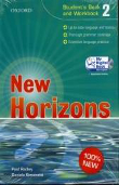 Copertina dell'audiolibro New Horizons – Student's Book and Workbook 2 di RADLEY, Paul - SIMONETTI, Daniela