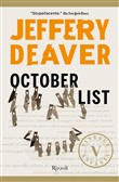 Copertina dell'audiolibro October list di DEAVER, Jeffery