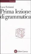 Copertina dell'audiolibro Prima lezione di grammatica