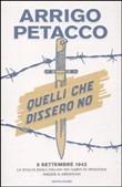 Copertina dell'audiolibro Quelli che dissero no di PETACCO, Arrigo