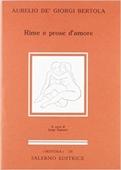Copertina dell'audiolibro Rime e prose d'amore di BERTOLA DE' GIORGI, Aurelio