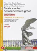Copertina dell'audiolibro Storia e autori della letteratura greca di CITTI, V. - CASALI, C. - GUBELLINI, M.