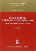 Copertina dell'audiolibro Tutele rimediali in tema di rapporti obblogatori di GAROFALO, Luigi ( a cura di)