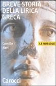 Copertina Breve storia della lirica greca
