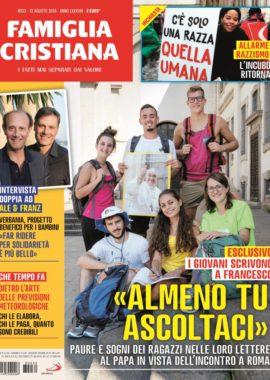 Copertina Famiglia Cristiana 32-2018
