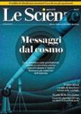 Copertina Le scienze Agosto 2018