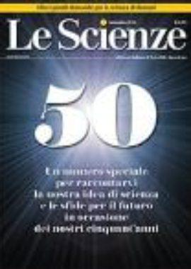Copertina Le Scienze Settembre 2018