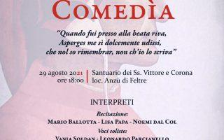 """Locandina de """"Il canto gregoriano nella comedia"""""""