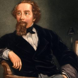 Dipinto che ritrae Charles Dickens